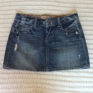 Paige Premium Distressed Mini Denim Skirt sz 24